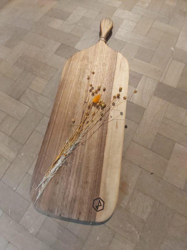 houten plank in notenhout