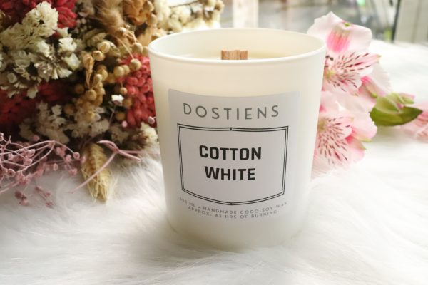cotton white kaars wit